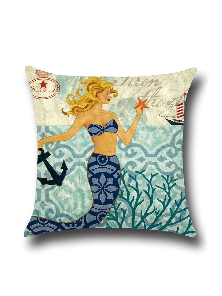 Shop Vintage Mermaid Print Square Pillow Cover online. SheIn offers Vintage Mermaid Print Square Pillow Cover & more to fit your fashionable needs.