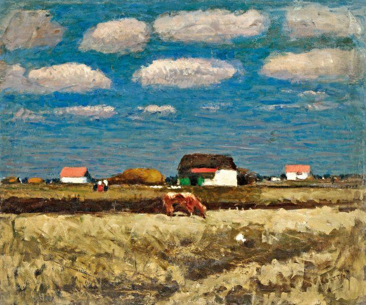 Aukció: 2016. december 14.: Koszta József; Szentesi táj, 1935 körül; olaj, vászon