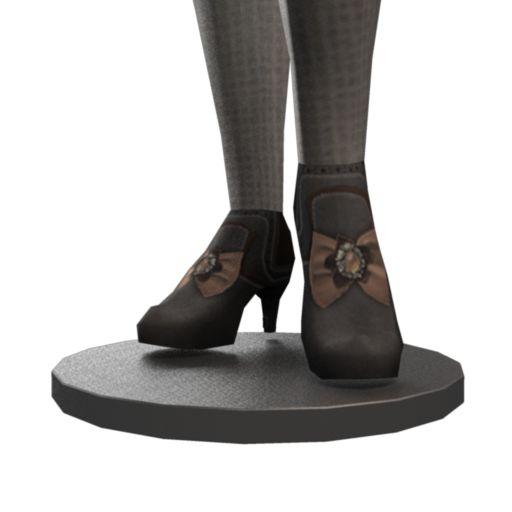 Steampunk Key Heeled Boots