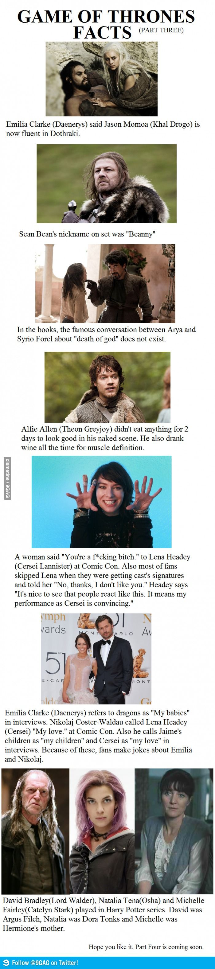 Game of Thrones facts. I learned something new about Harry Potter today: Hermione's mom is Robb Starks mom!