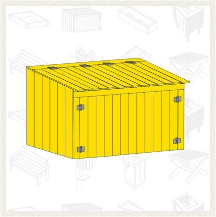 Build A Garbage Can Storage Shed Free Project Plan Hide