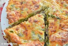 Asparagus and Bacon Quiche | Slimming Eats - Slimming World Recipes