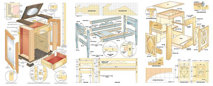 Planos e padrões livres de tratamento de madeira