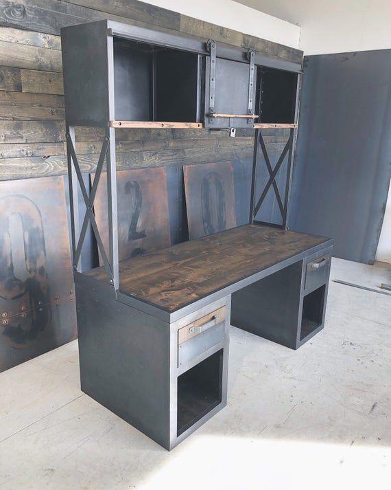 Belgrade Office Desk Avec Images Meuble Mobilier Industriel