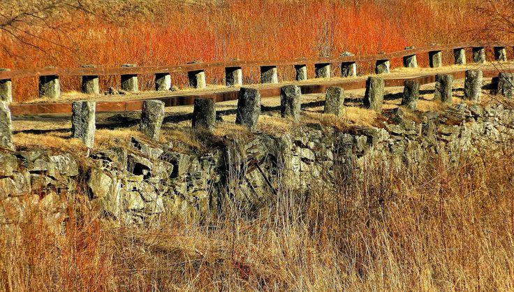 Part of Ruona stone bridge Kuortane, Finland. Ruonan kivisilta,.