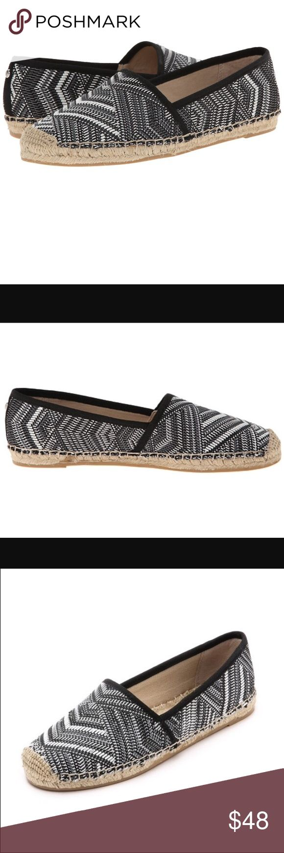 Sam Edelman Lynn 8.5 Black White Woven Espadrille. Sam Edelman Lynn 1 Women 8.5 M Black White Woven Espadrille new in box  Woven fabric upper. Easy slip-on wear. Man-made lining. Jute rope footbed and wrapped midsole. Rubber outsole. Imported. Posted with eBay Mobile Sam Edelman Shoes Espadrilles