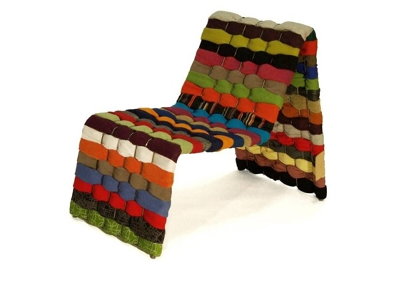 Feel eco-friendly!   T-shirt Chair by Green Furniture, Sweden  www.decopulse.co.uk