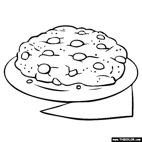 big-chocolate-chip-cookie Coloring Page | Big chocolate ...