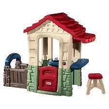 SECRET GARDEN PLAYHOUSE - Built in features sure to spark the imagination