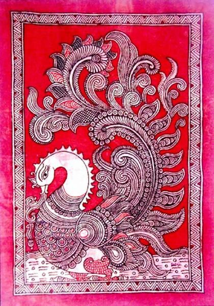 Indian Painting Styles...Kalamkari Paintings (Andhra Pradesh)-1kalamkari-peacock-4-.jpg