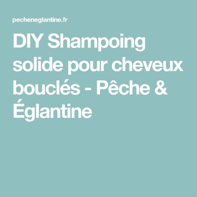 DIY Shampoing solide pour cheveux bouclés - Pêche & Églantine