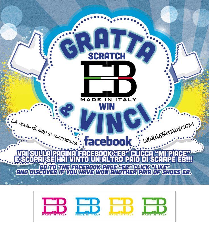 """Prima di salutarvi per il week vi diamo il primo CODICE VINCENTE del concorso GRATTA e VINCI EB SHOES!!!!  Hai vinto? Vai sulla pagina Facebook https://www.facebook.com/pages/EB-SHOES/257541034362694?ref=hl Clicca """"Mi piace"""", lascia un messaggio e sarai ricontattato!!!!!"""