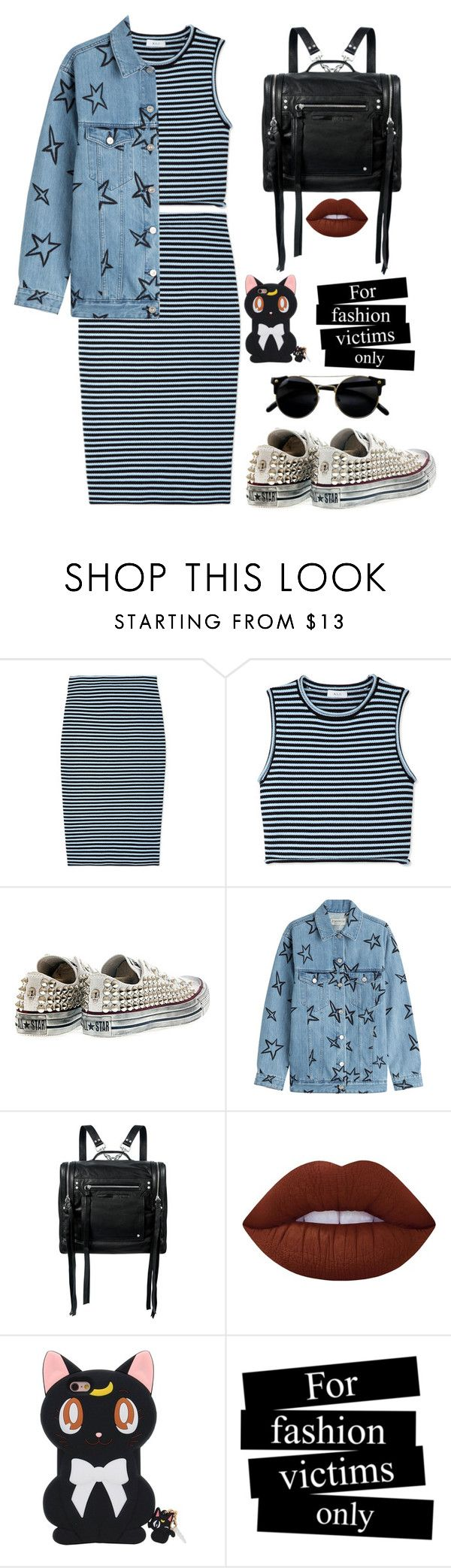 """Sin título #1664"" by mrs-malfoy ❤ liked on Polyvore featuring A.L.C., Converse, Être Cécile, McQ by Alexander McQueen, Lime Crime, converse, alc, McQbyAlexanderMcQueen and etrececile"