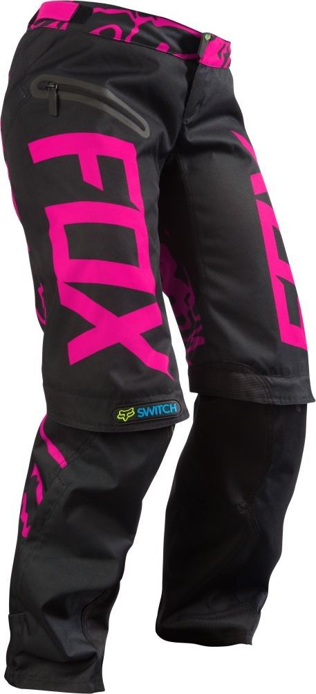 Fox Racing Switch Womens Motocross Pants - Black/Pink - 2