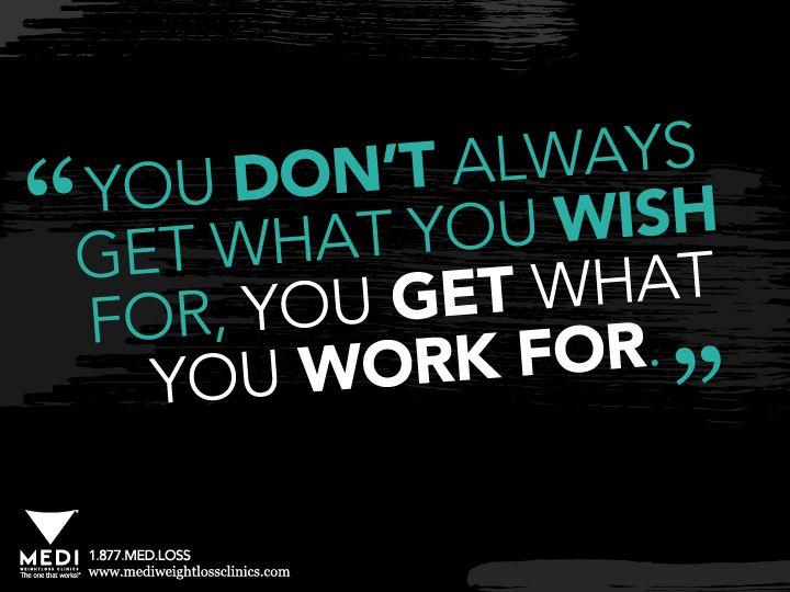 STOP wishing, START working! #fitness #weightloss #motivation