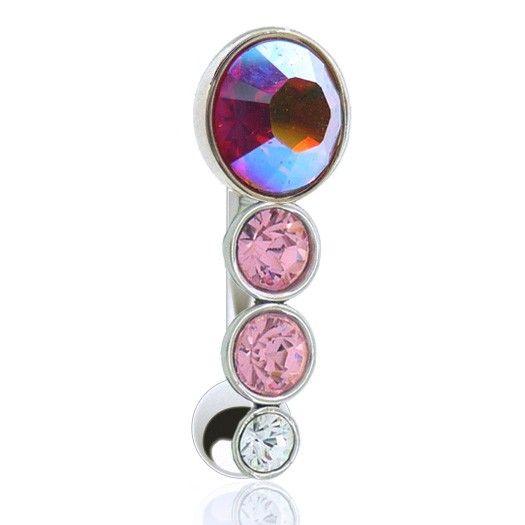 Glamour collection de piercings de nombril inversés aux couleurs chatoyantes. Grand choix de bijoux de piercing à découvrir sur c-bo.fr