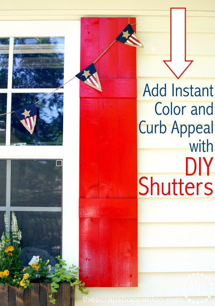 DIY Shutters to add instant curb appeal and a pop of color!