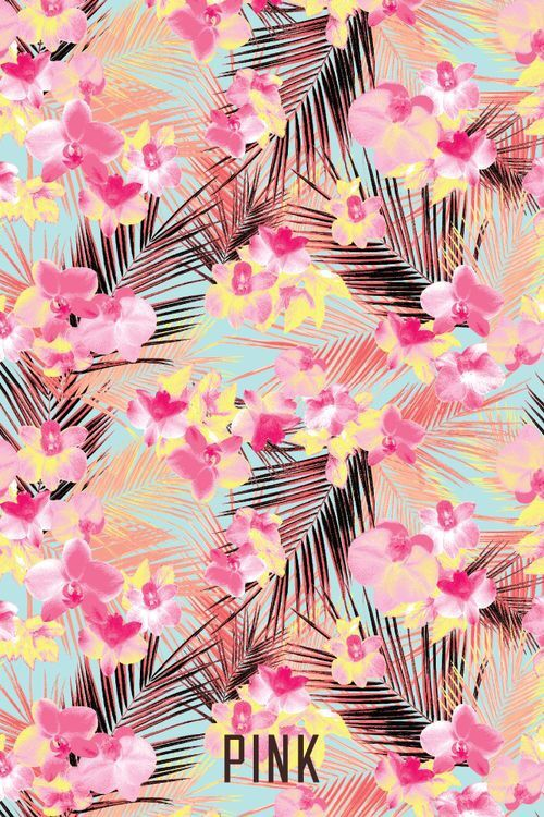 Iphone wallpaper floral pink victoria secret cool summer fun flowers nature heat Wallpaper for ...