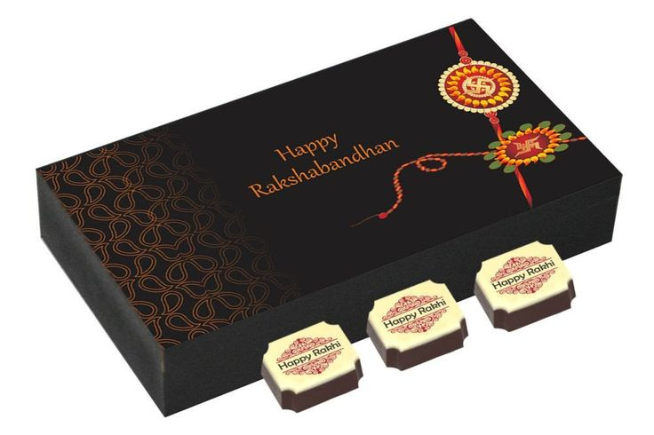 Online rakhi gifts - 6 Chocolate Gift Box - Rakhi festival gifts with Rakhi