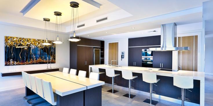 "Riverstone ""Mosman"" residence - Kitchen / Dining Area   Ultimo Dining table & Linda Vario Artwork"