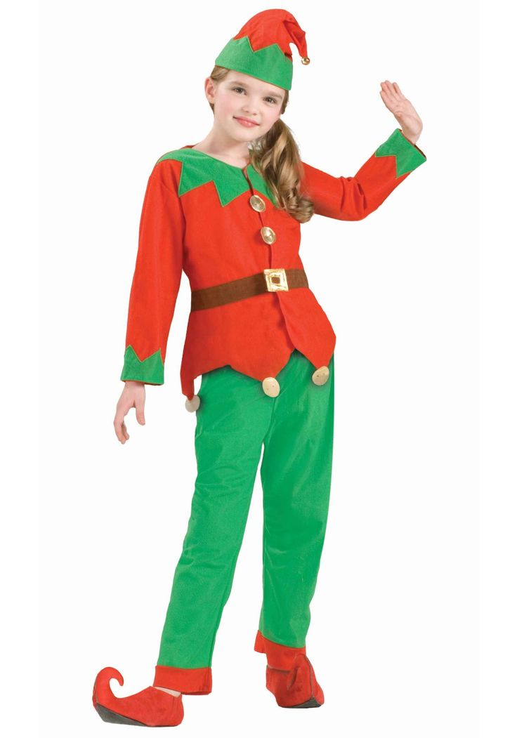 elf costume for kids to make   Kids Christmas Elf Costume