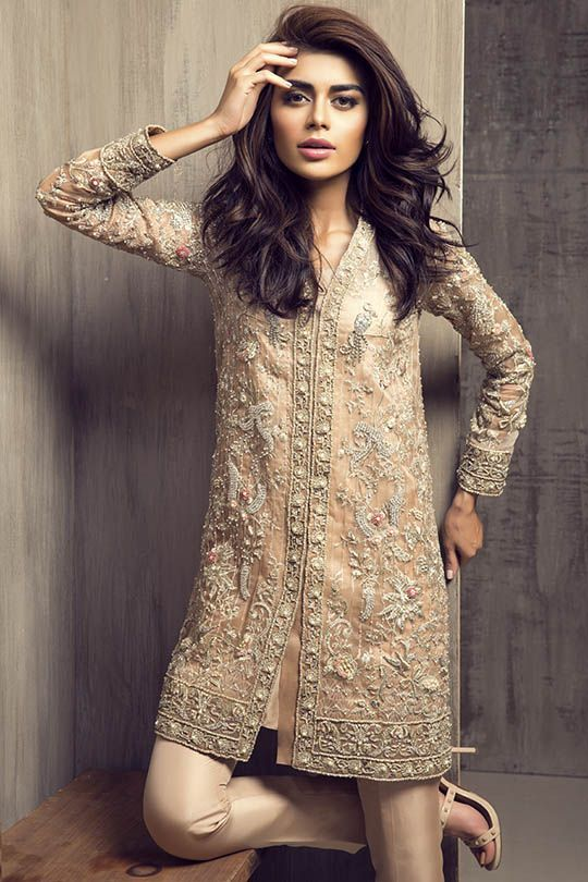 Latest Party Wear Embroidered Shirt Designs with Trousers- Pants Collection 2016-2017 (16)