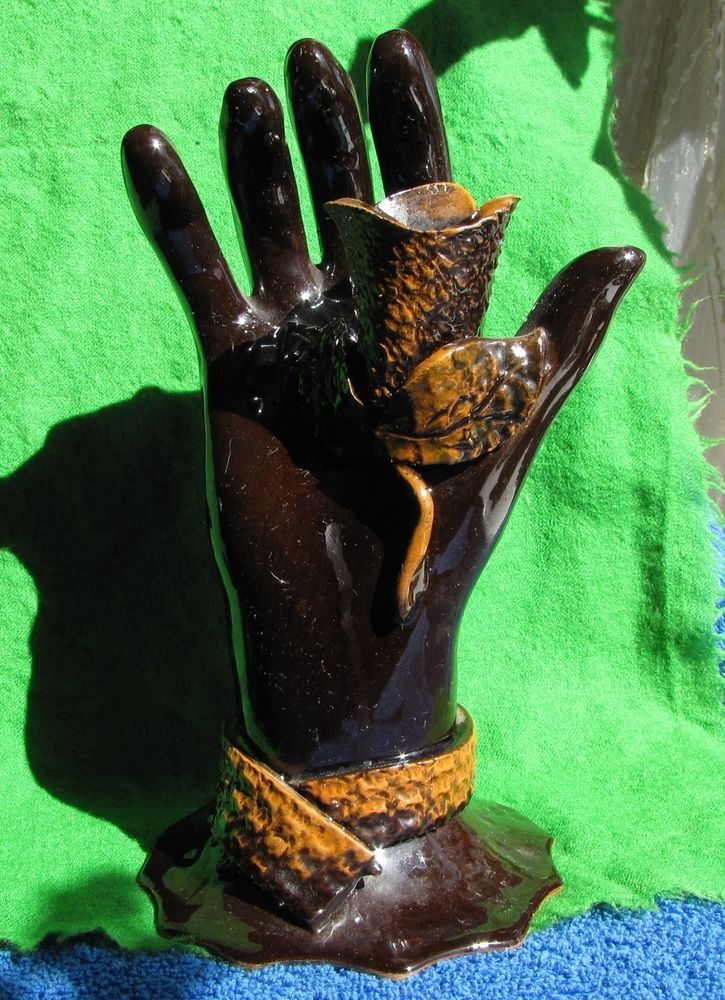 Vintage Brown Candle Holder Figurine   Arm №11