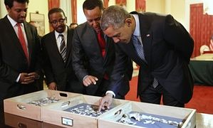 Obama meets Lucy
