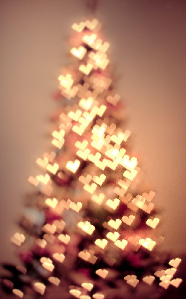 Every one needs some love on Christmas, heart Christmas tree.