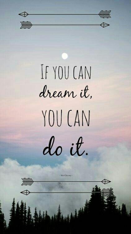 Wenn Sie geträumt haben, können wir es schaffen….
