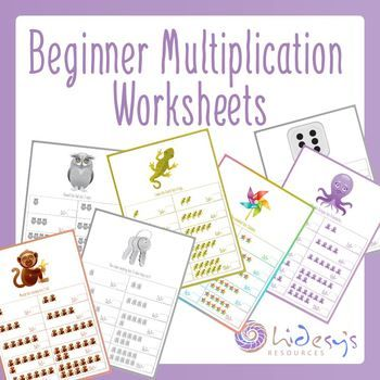 early learner introduction to multiplication worksheets all kids education pinterest. Black Bedroom Furniture Sets. Home Design Ideas