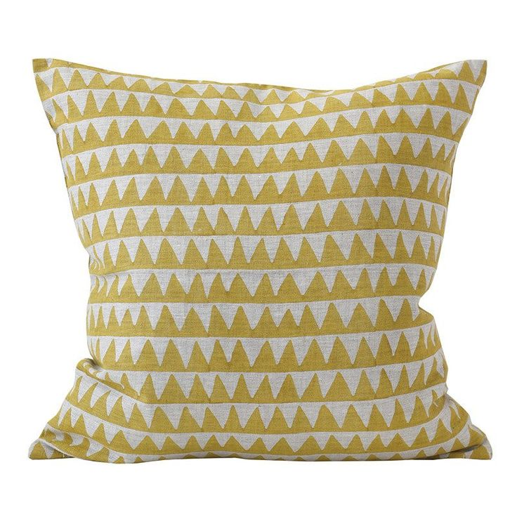 PYRAMIDS linen cushion cover  – 50x50cm – SAFFRON - 20% OFF online and in store