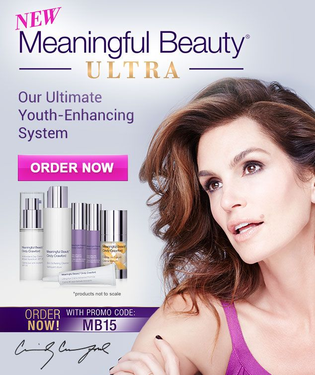 Cindy Crawford with Meaningful Beauty.  I love this stuff.