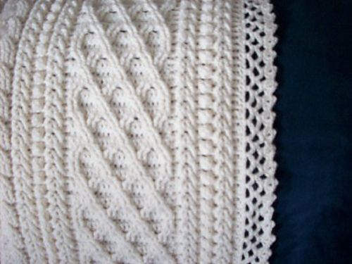Crochet Aran Baby Blanket Pattern : ARAN BABY AFGHAN Crochet: Baby & Child Pinterest