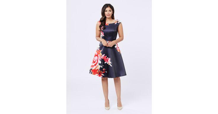 Review Australia - Beautiful Bloom Dress Navy/multi