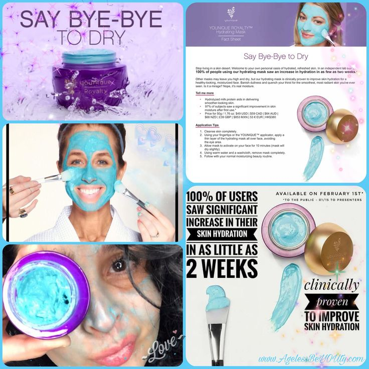 Hydrating Mask!  www.AgelessBeYOUty.com #younique #makeup #hydration #mask #saybyetodry
