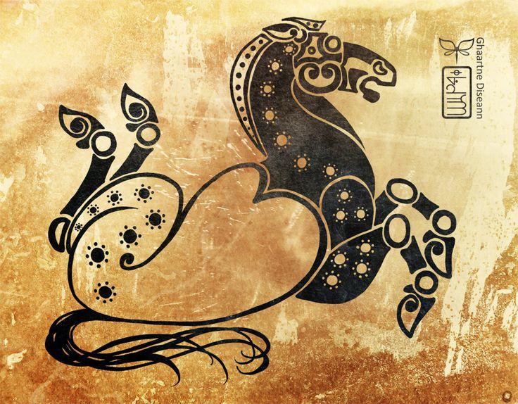 Horse - traditional motive of Scythian art