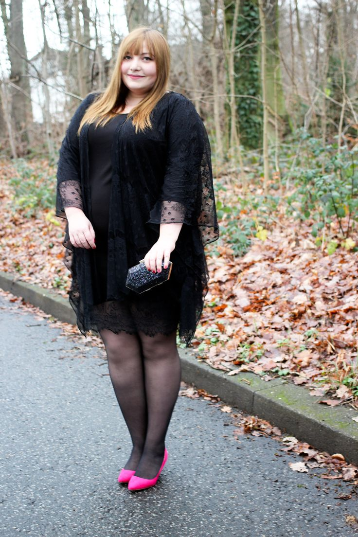 kathastrophal.de | Black Lace for the holidays / dress and kimono by Junarose