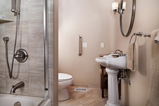 Aging in place bathroom for the home pinterest for Ada bathroom designs