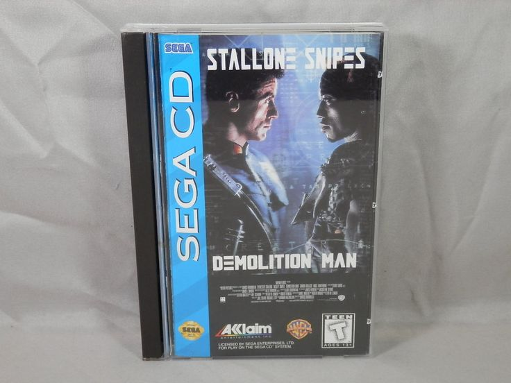 Demolition Man (Sega CD, 1995) Complete Game Manual and Case - WORKS but disc has a CRACK by CaymanHillDesigns on Etsy
