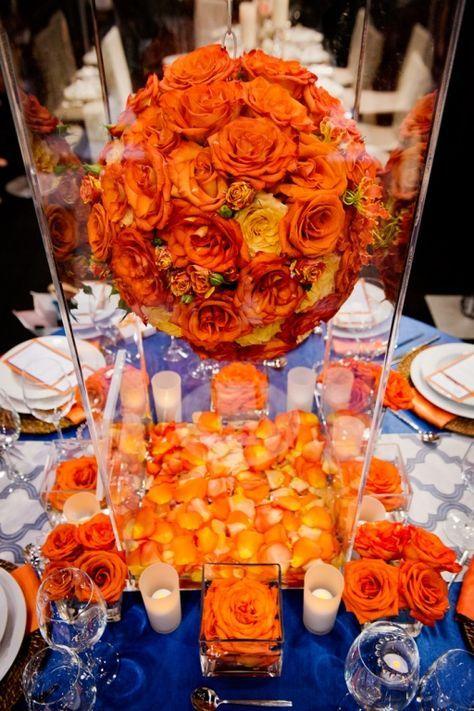 9 best royal blue and burnt orange theme images on - Orange and blue decor ...