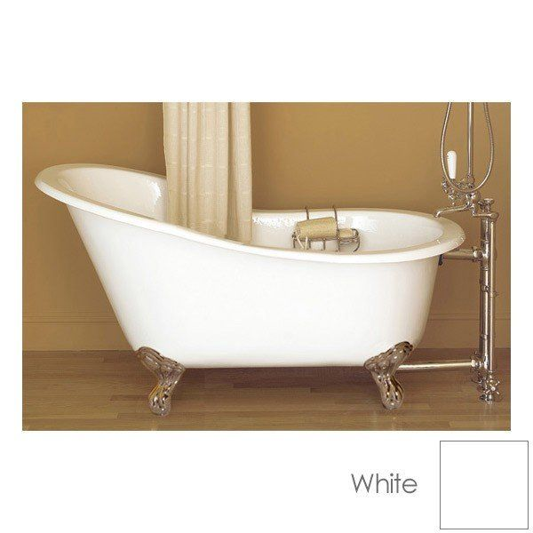 Sunrise Specialty 54 Inch Cast Iron Slipper Clawfoot Tub No Faucet Drilling