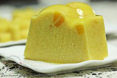 Mango Pudding (Puding Mangga Lemak Harum)