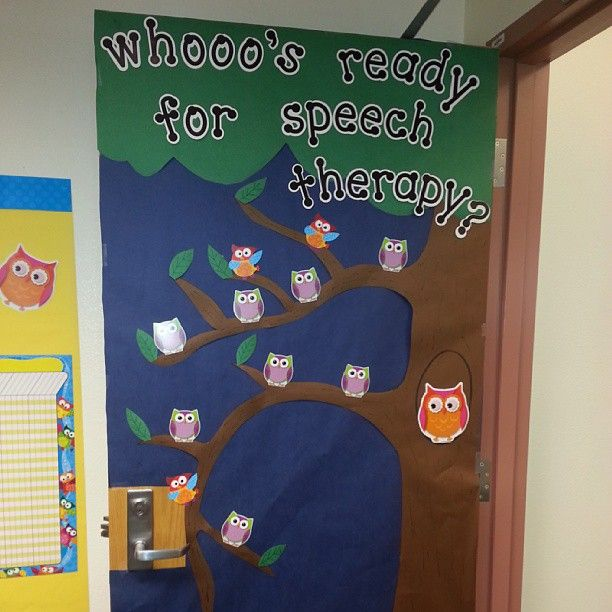 """whooo's ready for speech therapy?' - Submitted by michelefell85 on Instagram - Visit the @PediaStaff ""MyTherapyRoom Share"" Board on Pinterest to see more contributions"