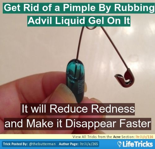 Get Rid of a Pimple with Advil Liquid Gel