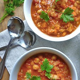 Spicy Tomato and Chickpea Soup | Soups,Stews, and Chili | Pinterest