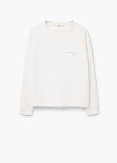 Bawełniana bluza z napisem