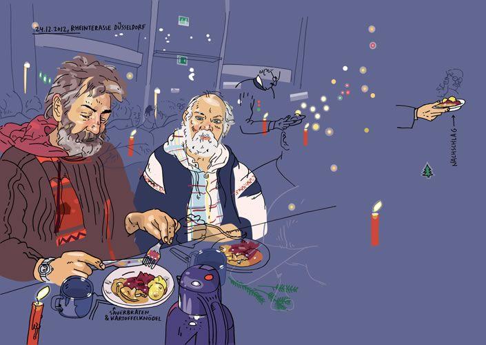 "Olivier Kugler. ""Christmas Party For Homeless People"" 2015."