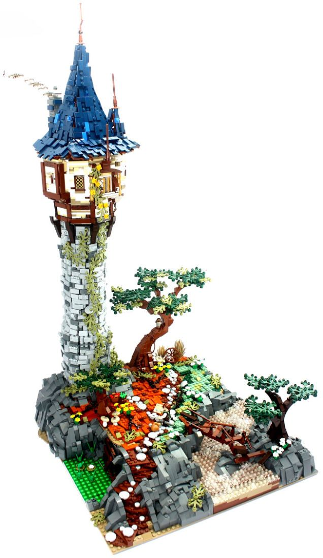 Let down your hair and check out this awesome Lego tower