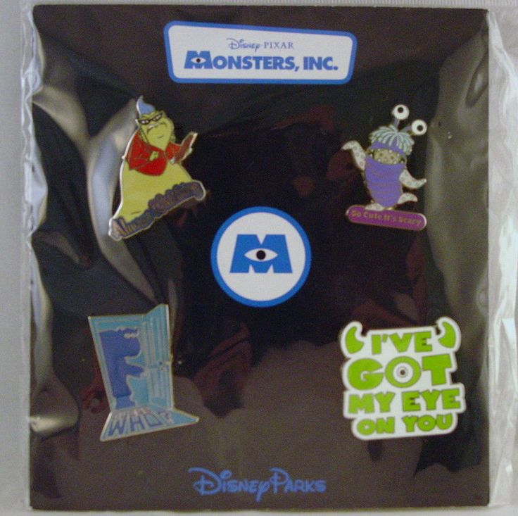 Disney Trading Pins MONSTERS, INC. Cute Scary Characters Sealed Booster Set of 4